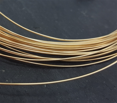 24 gauge dead soft wire 14k gold filled. 1 foot