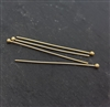24 gauge headpins ball end 1 inch gold  (4 pcs)