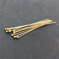 26 gauge headpins 1inch gold filled ball end (10)