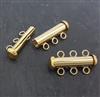 3 row  tube clasp gold filled