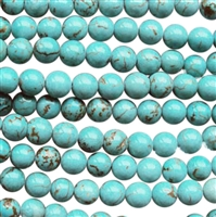 howlite round beads strings