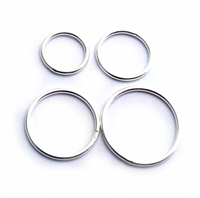 large plain silver rings