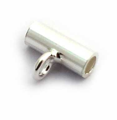 tube bead w/loop 8x3mm