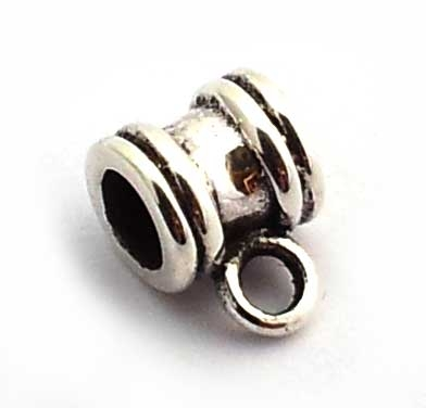 bead with loop 6x5mm st. silver