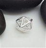 sterling silver geometric bead
