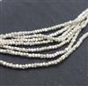 "Hilltribe st. silver seed beads 13"" string"