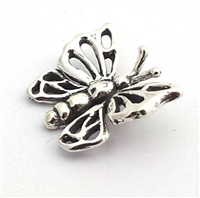 butterfly charm bead st. silver