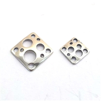 13mm square st silver connector
