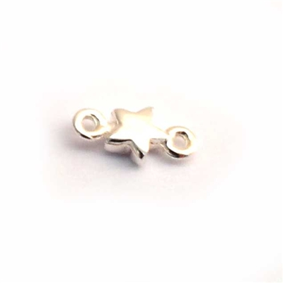 sterling silver mini star connector