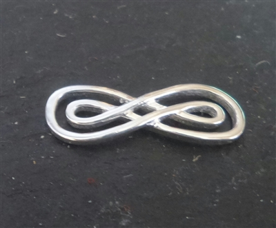 Sterling Silver double infinity connector