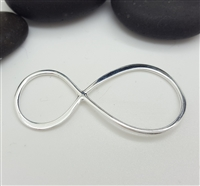 sterling silver infinity pendant connector