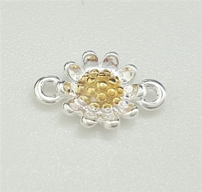 sterling silver daisy connector
