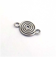 sterling silver spiral connector