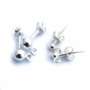 3mm ball stud earrings st. silver (1 pr)