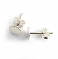 studs with 6mm pads & scrolls st . silver