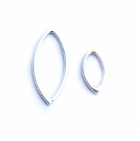 st silver marquis jump ring 12x6mm