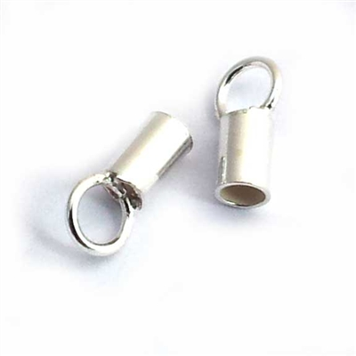 st silver cord crimp ends (2 pack)