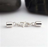 st silver 3mm cord end set