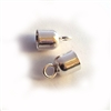 st. silver cord ends 5mm hole ( 2 pieces)