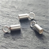 st. silver cord ends 2mm hole ( 2 pieces)