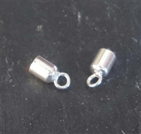 st. silver cord ends 3mm hole ( 2 pieces)