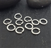 5mm open jump rings (10 ) click and lock sterling silver
