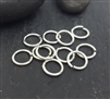 6mm open jump rings (10 ) click and lock sterling silver