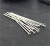 22 gauge 1 inch sterling silver headpins (10)