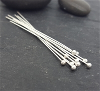 24 gauge 1.5 inch headpins ball end sterling silver