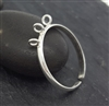adjustable sterling silver ring band 3 loops
