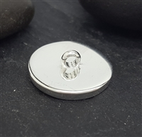 sterling silver round cap with loop 13.65mm