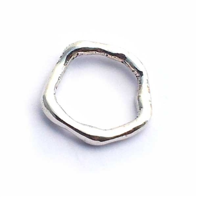 lrg. wavy st. silver ring