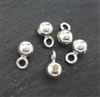 4mm beads with loop 5 pcs  (direction1 )