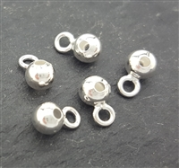 4mm beads with loop 5pcs (direction 2 )