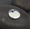 7.5mm plain sterling silver disc