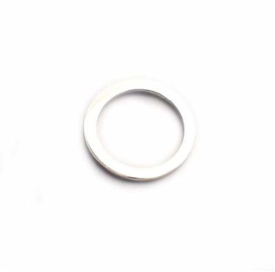 13mm polished ring st. silver