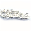50 st. silver 2mm crimp beads