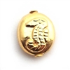 seahorse bead gold on silver