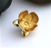 gold on sterling lotus flower pendant