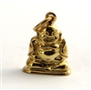 gold on sterling Buddha charm