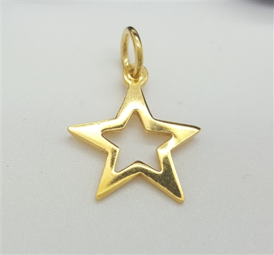 gold plated star charm