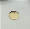 6mm gold plated disc charm
