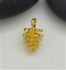 gold on silver fir cone charm