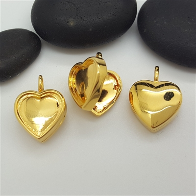 gold vermeil heart locket