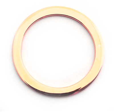 25mm ring gold plated silver