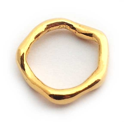 lrg wavy ring gold on st. silver