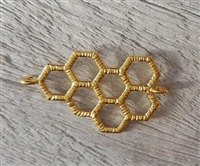 gold on sterling honeycomb connector