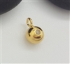 6mm bead with loop gold on silver (direction A)
