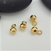 4mm bead with loop gold on silver (direction B)