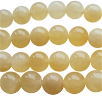yellow jade round beads string